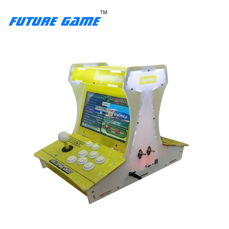 2 player 10 inch LCD Screen Mini bartop Galloping Ghost Arcade Game machine with Pandora 6S 1388 games VGA HDMI output