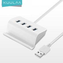 KUULAA USB HUB Adapter USB 3.0 Dock Fast Transfer Splitter 4 Ports 4 In 1 USB Extention Data Transfer For PC MacBook Pro