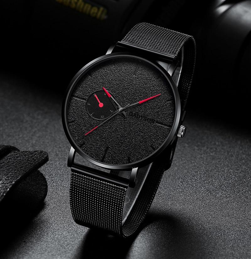 Hd9fc556a003842fcb7fc4aeb9461132bZ DONROSIN Men Casual Slim Black Mesh Steel Wrist Sport Watch Fashion Mens Watches Top Brand Luxury Quartz Watch Relogio Masculino