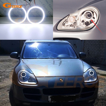For Porsche Cayenne 955 9PA 2002 2006 xenon headlight Excellent Ultra bright COB led angel eyes kit halo rings Day Light