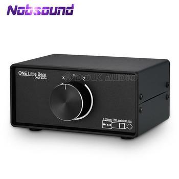 "Nobsound Mini 3-way Mono / Stereo 1/4"" 6.35mm TRS Audio Switcher Box Headphone Splitter for Guitar Amplifier"