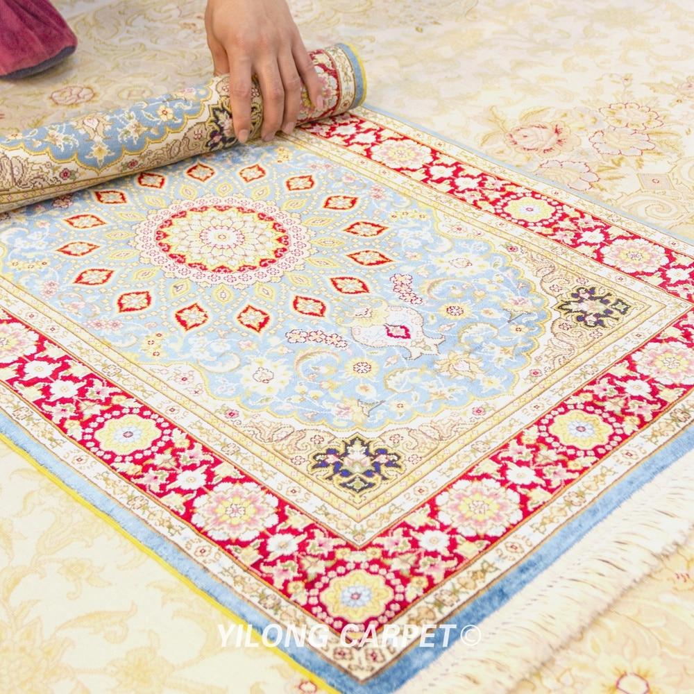 Yilong 2 X3 Persian Silk Carpet Blue