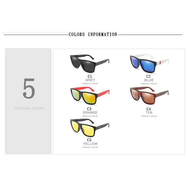 Gafas de sol polarizadas para hombre y mujer, lentes cuadrados para el sol, retro de marca famosa, unisex 4