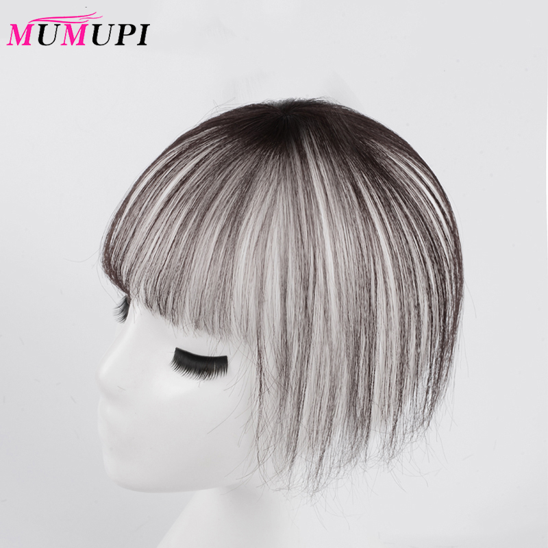 MUMUPI Clip In Hair Bangs Hairpiece Accessories Synthetic Fake New Upgrade 3D Air Bangs Hair Piece Clip In Hair Extensions