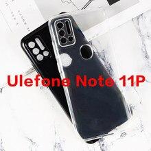 360 capa de proteção completa para ulefone nota 11p silicone caso de telefone transparente para ulefone nota 10 9 8 7p macio tpu caso