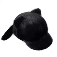 Cute cartoon fur hat fashion lady mink knight hat winter warm bear cap 2016 hot selling lady s the new mink fur mink hat knit cap children winter thickening warm winter hat free shipping 3color sd21