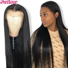 26 28 30 Inch Peruvian Straight Fake Scalp Wig 13x6 Lace Front Human Hair Wigs Remy PrePlucked and Bleached Knots Frontal Wig(China)