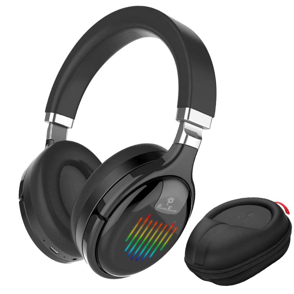 Led Light  Wireless Headphones  Bluetooth Earphone Foldable Noise Reduction Bass Stereo Gaming Wired  Headsets With Mic FM MP3