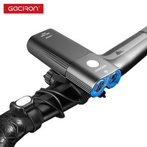 Image 4 - Gaciron 1800 루멘 자전거 라이트 프론트 라이트 Led USB 충전식 배터리 핸들 바 자전거 헤드 라이트 프론트 램프 액세서리 세트