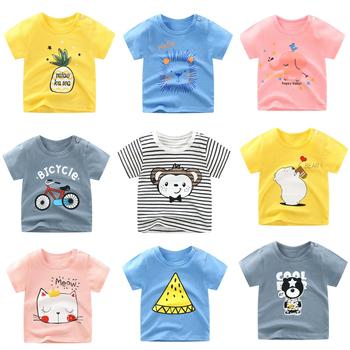 Niemowlę maluch Tee topy lato z krótkim rękawem dla niemowląt chłopcy dziewczęta T-SHIRT bawełniane ubrania dla dzieci T SHIRT chłopięce ubrania tanie i dobre opinie Cindy YoYo W wieku 0-6m 7-12m 13-24m 25-36m 4-6y Na co dzień CN (pochodzenie) COTTON Dziecko dla obu płci Dobrze pasuje do rozmiaru wybierz swój normalny rozmiar