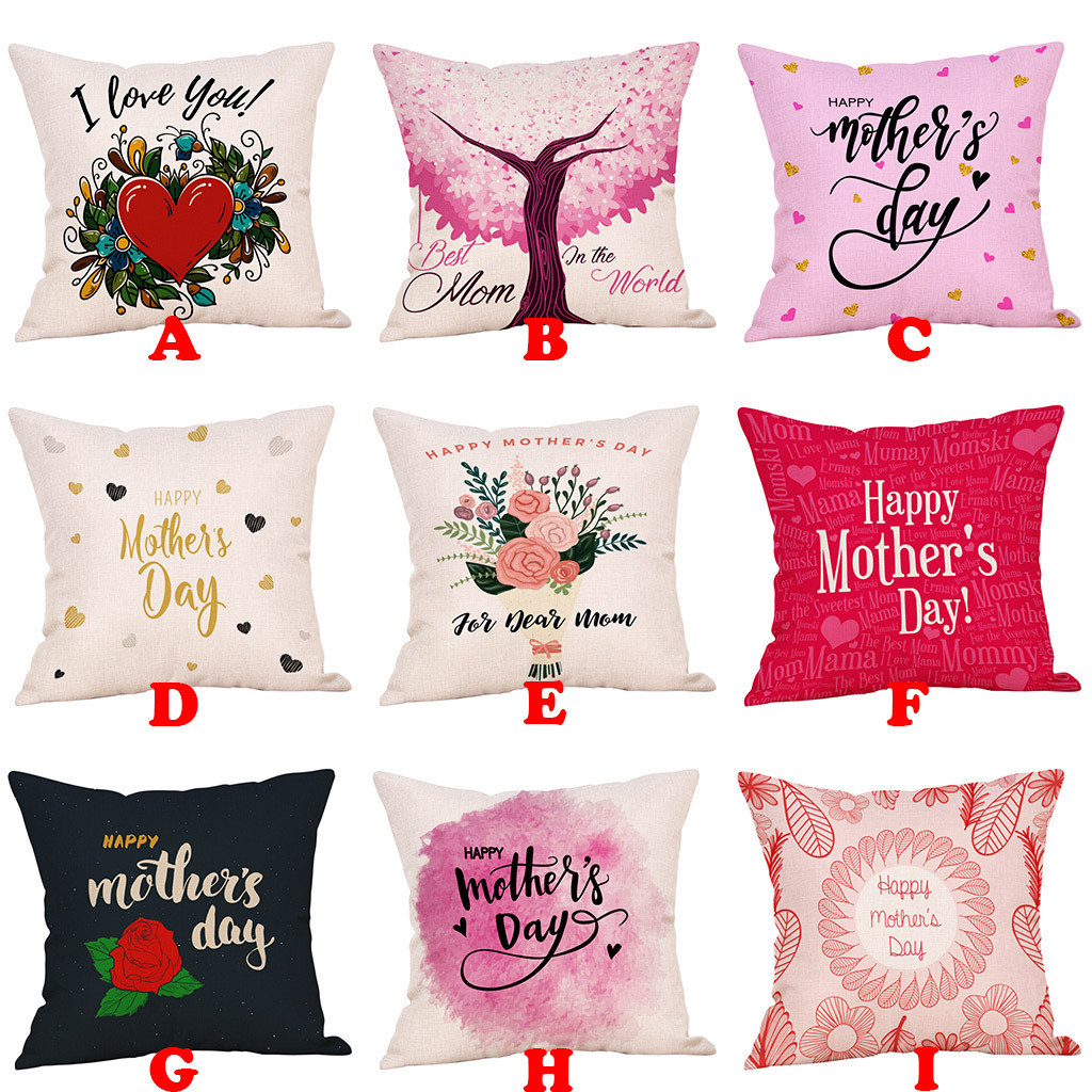 Printed Pink Pillow Covers Cotton Lines Bed Comfortably Festival Pillow Case Simple New Dropshipping E 9.3