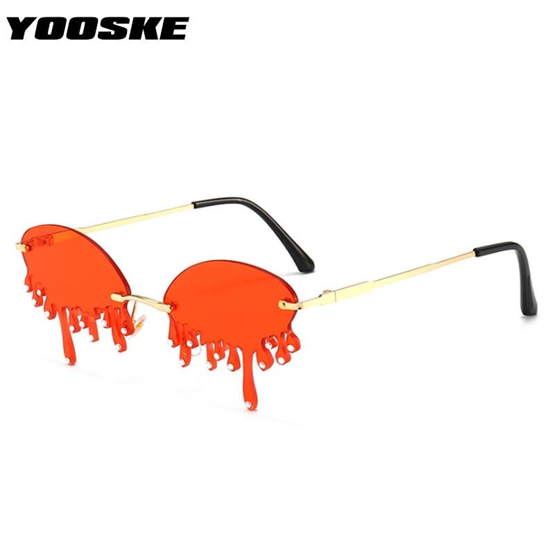 YOOSKE Fashion Funny Diamond Sunglasses Women 2020 Vintage Sun Glasses Men Luxury Red Glasses Shades For Women Goggles UV400
