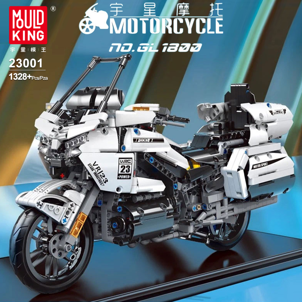 Building-Blocks Assembling Model Educational-Toys Mould King Car-Technology City Motorcycle