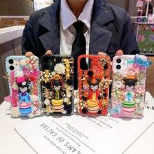 Nieuwe Oude Schoonheid Fairy Cover Voor Samsung Galaxy S20 Plus/S20ultra 3D Meisje Vlinder Diy Cream Case Pop Note 9 S10 S9 S8 Plus