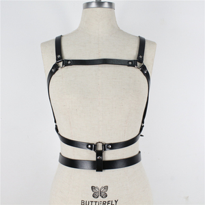 Image 4 - UYEE Dropshipping Fashion Women Garters High Quality Leather Harness Sexy Lingerie Belts Body Bondage Erotic Dress Straps LB 142