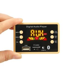 Image 2 - Bluetooth 5.0 MP3 デコーダのデコードボードモジュール 5 v 12v 車の Usb MP3 プレーヤー WMA WAV TF カードスロット /USB/FM リモートボードモジュール