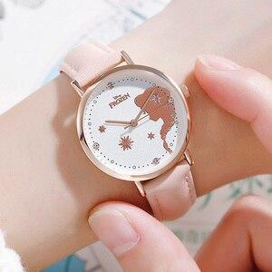 Image 2 - ดิสนีย์แช่แข็งชุดเจ้าหญิง Elsa Snow อินเทรนด์หรูหรานาฬิกาเด็กเด็กผู้หญิงรัก Noble นาฬิกาควอตซ์นักเรียนนาฬิกาของขวัญ