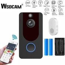 Wsdcam V7 HD 1080P akıllı WiFi Video kapı zili kamera görsel interkom gece görüş IP kapı zili halka kablosuz ev güvenlik kamerası