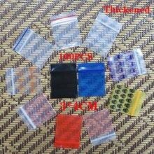 100Pcs Mini Zip lock Bags Cheaper Small Plastic Zipper Bag Ziplock Bag Plastic Packaging Bags Ziplock Pill Packaging Pouches
