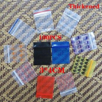 100Pcs Mini Zip lock Bags Cheaper Small Plastic Zipper Bag Ziplock Packaging Pill Pouches