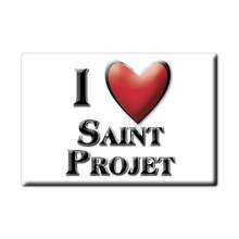 Aimant SAINT PROJET lodestone PAYS DE LA LOIRE (46) France aimant frigo SOUVENIR j'aime cadeau