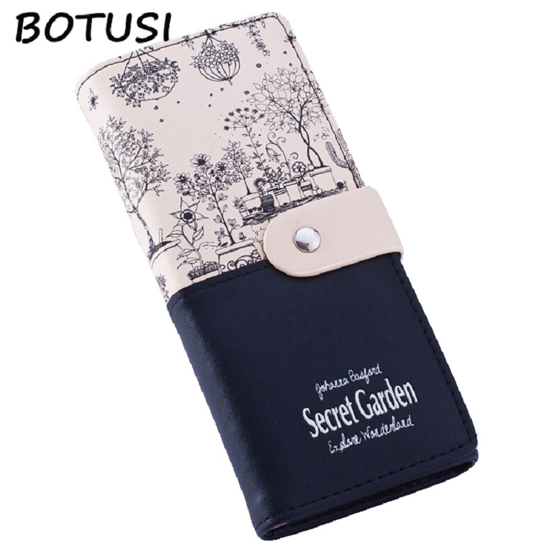 BOTUSI Women Wallets Ladies Card Purse Clutch Female Carteras Mujer Monederos Women's Bag Feminina Clutch Wallet Long Purses