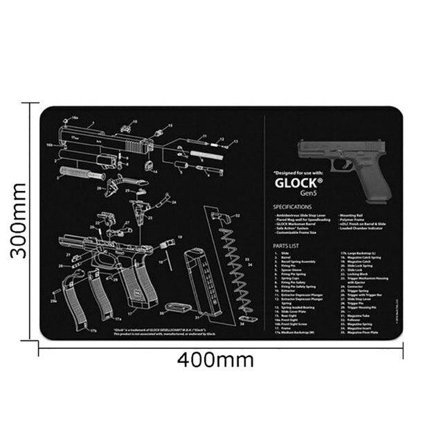 Pistolet tapis de nettoyage pour AR15 AK47 Glock colt1911 SIG SAUER P320 Beretta 92 fusil pistolet smith réparation construction outils Kits banc tampons