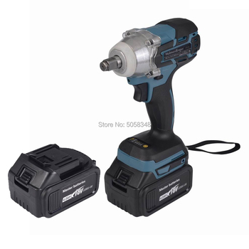 Brushless cordless electric Rechargeable Impact Wrench with two 18V 4.0Ah Lithium ion Battery electric impact wrench 98 128 168 188vf electric brushless li ion battery wrench 10mm chuk with box cordless speed control power