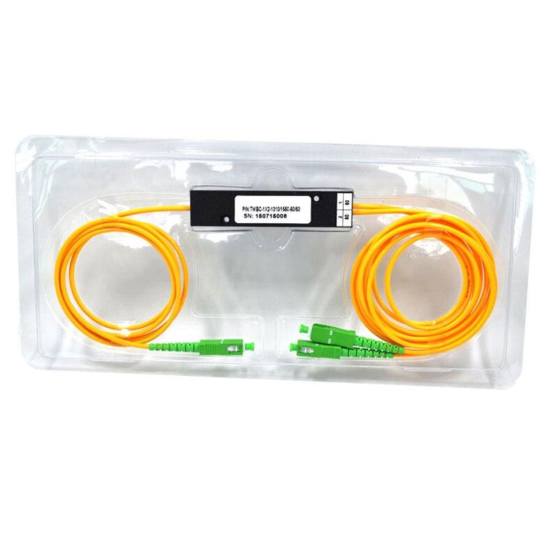 1X2 PLC Singlemode Fiber Optical Splitter FTTH PLC SC/APC 1x2 PLC Optical Fiber Splitter FBT Optical Coupler