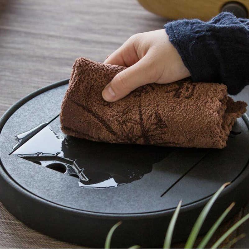 Hogar multifunción Impresión de microfibra absorbente paño té de engrosamiento absorbente toalla de té Kung Fu té Accesorios