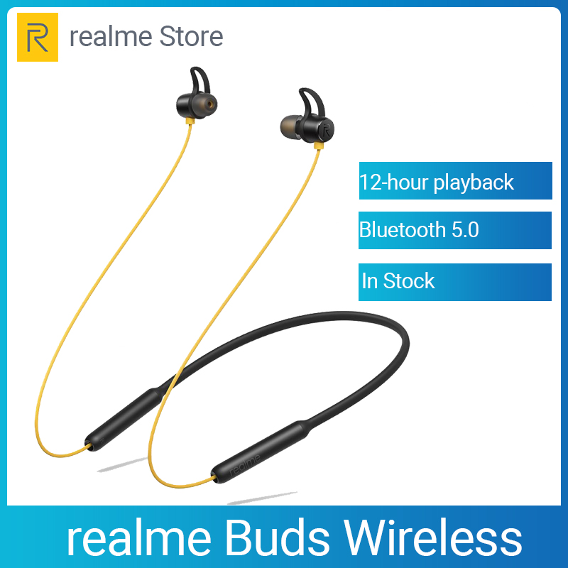 OPPO Realme Buds Wireless Bluetooth 5.0 Magnetic Connection Bass Boost Driver 12 Hours Battery Life For Realme X X2 X2 Pro X50