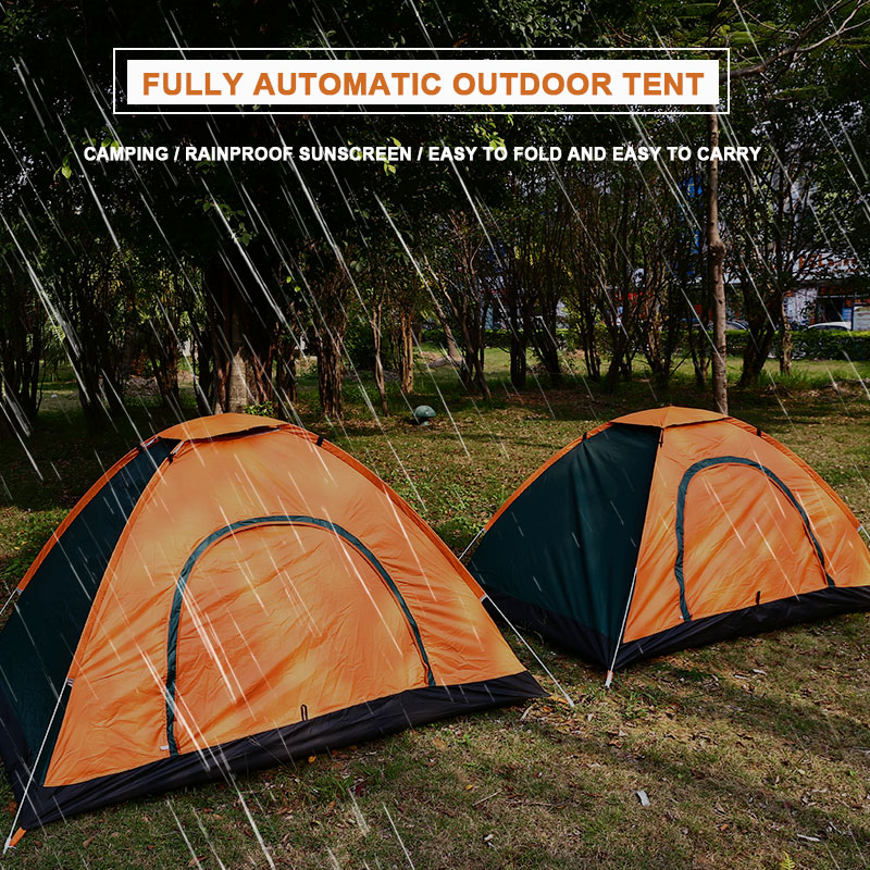 2 Persons Pyramid Tent Durable Mosquito Net Bedding Camping Tent Hiking NEW