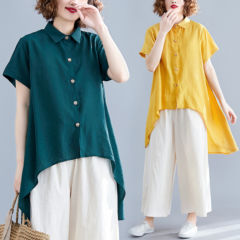 Fat Mm Large Size 2019 Summer WOMEN'S Dress-Style New Style Loose Pants Elegant Slimming Western Style Cotton Linen Casual Two-P