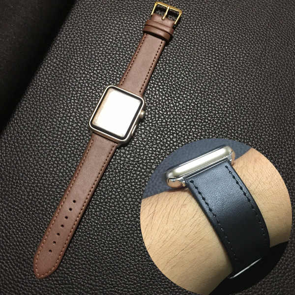 I clienti in primo luogo laccio di cuoio Per Apple Watch Band per iWatch Cinghia 42 MILLIMETRI 38 MILLIMETRI 40 millimetri 44 millimetri di serie 1 2 3 4 5