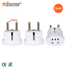 Rdxone 4.8MM German Plug US AU to Europe Travel Adapter Korea European Power Socket Converter