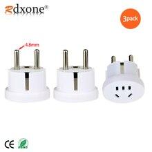 """Rdxone 4.8MM גרמנית Plug ארה""""ב AU לאירופה נסיעות מתאם קוריאה אירופאי שקע חשמל ממיר"""