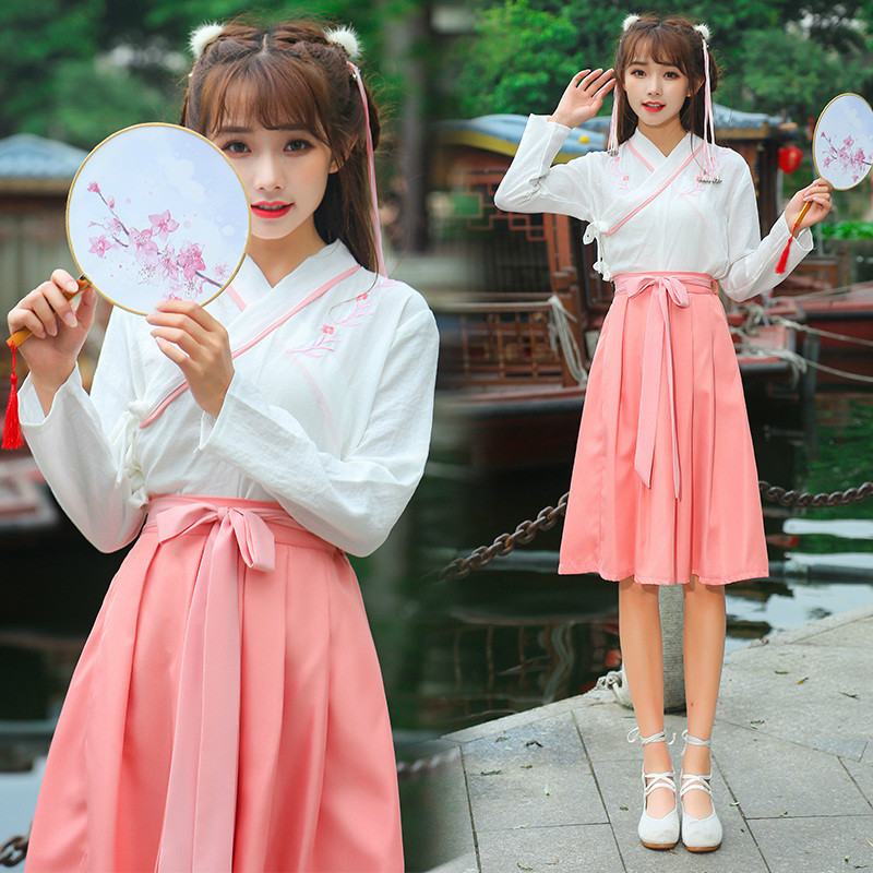 Women Kungfu Clothing Cosplay Fairy Costume Hanfu Clothing Chinese Traditional Ancient Dress Dance Stage Tang Dynasty Outfit <font><b>90</b></font> image