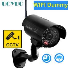 Atrapa aparatu wideo cctv kamery monitorujące w/ wifi antena infared IR LED miga zasilany z baterii bezpieczeństwa sztuczna kamera