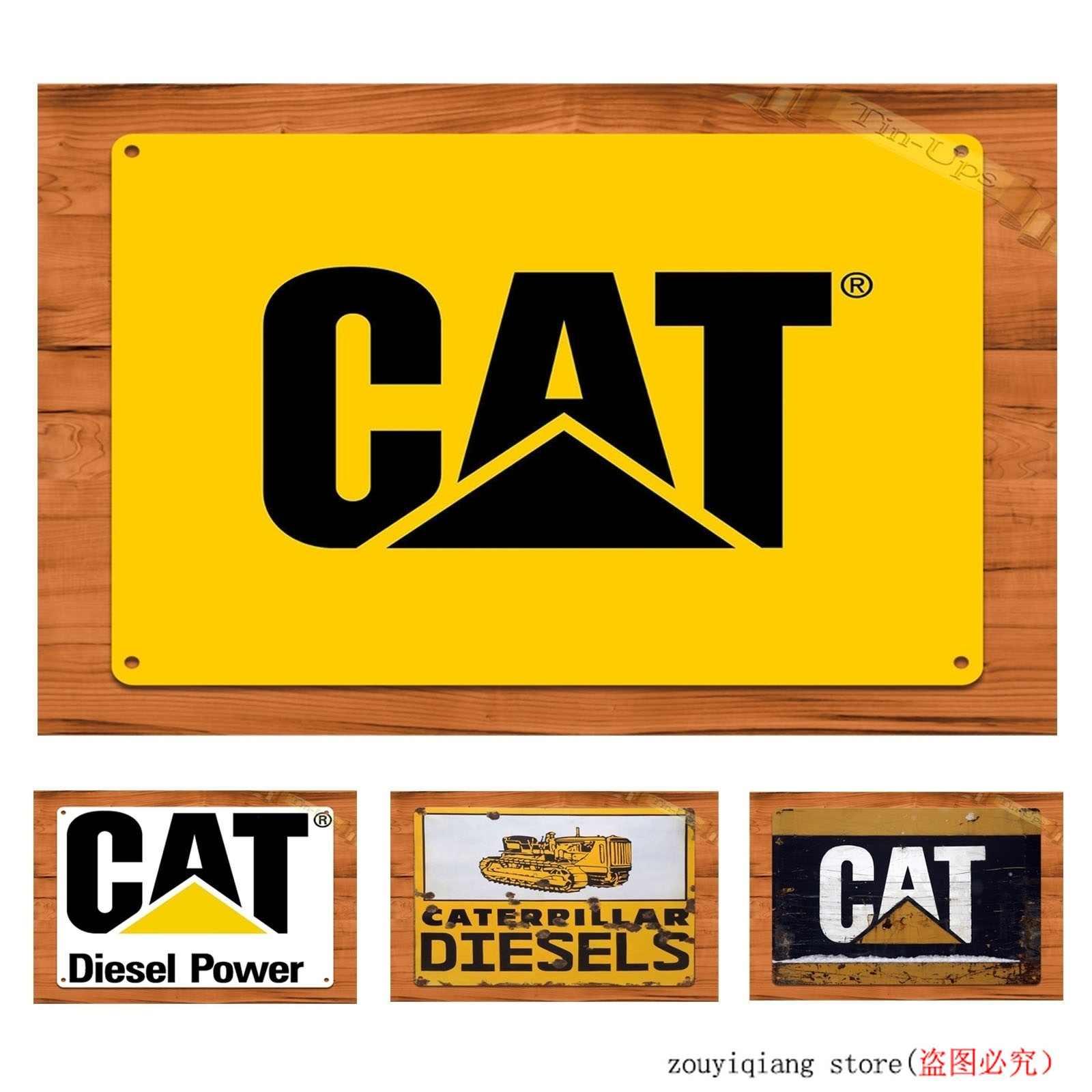 Caterpillar CAT logo wall art sign