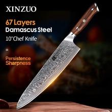 """Xinzuo 10 """"Inch Chef Messen Damascus Staal Professionele Gyotou Mes Keuken Chef Accessoires Met Palissander Handvat Keuken Gereedschap"""