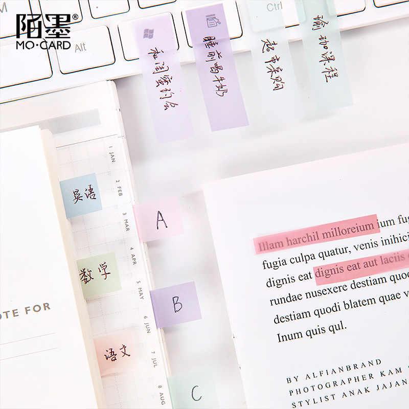 90 pièces dégradé mémo Pad autocollant bloc-Notes Kawaii décor Notes collantes mignon bricolage clair coréen papeterie balle Journal