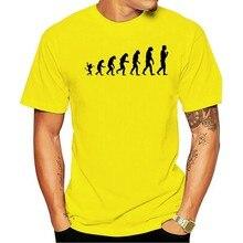 2021 moda lazer 100% algodão o-pescoço camiseta evolução humana diversão geek macaco charles darwin biológico