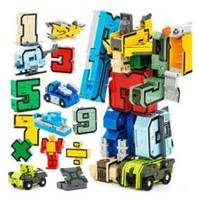 15Pcs Assembly Puzzle Transformer Robot Numbers Armour Symbols DIY kids Game toy карликовое дерево 15pcs diy