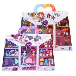 Image 5 - Original meu pequeno pônei moda bonecas melhores amigos arco íris pôr do sol modelo figuras de ação brinquedos para o presente aniversário do bebê menina bonecas