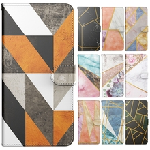 A31 Case Fashion Splicing Marble Wallet Leather Flip Phone Cover Capa for Funda Samsung Galaxy A32 A31 A30 Case Hoesje Men Women