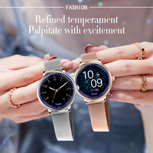 Alloyseed NY12 Stijlvolle Vrouwen Smart Watch Ronde Screen Smartwatch Voor Meisje Hartslagmeter Compatibel Voor Android En Ios
