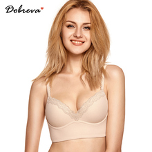 DOBREVA Womens Push Up Bra Lightly Padded Wire Free Bralette Soft Underwire Soutien Gorge