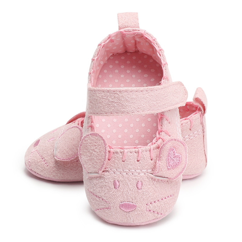 Baby Girl Shoes Cartoon Mouse PU Leather Princess Baby Shoes First Walkers Newborn Moccasins For Girls