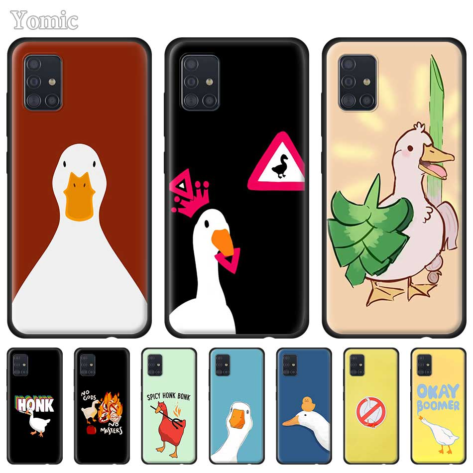 Goose To Honk or Not To Honk Soft Case For Samsung Galaxy A50 A51 5G A71 A10 A70 A30 A20 E A21 S A40 A41 A31 A01 Black Tpu Cover