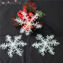 JOY-ENLIFE 30Pcs Small Shining White Artificial Snowflake Christmas Tree Decorations New Year Party Decoration for Home